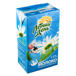 Молоко Летний День ж 1,5% 950мл