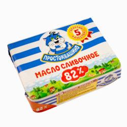 Масло сливочное Простоквашино 82% 180 гр.