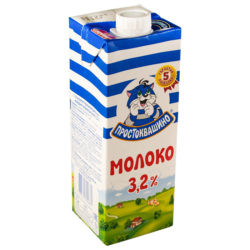 Молоко Простоквашино ж3,2 % 950 мл