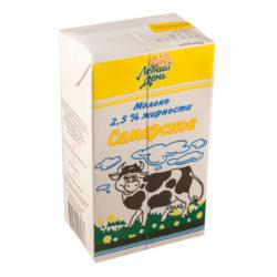 Молоко Самарское ж. 2,5% 1 литр