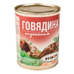 Говядина тушеная 1с 325 г ГОСТ РУЗКОМ ж/б