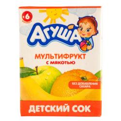 Сок Агуша мультифрукт/мякоть б/cах 200 г
