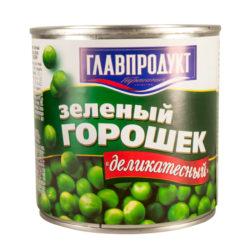 Горошек в/с 420 гр ж/б Главпродукт