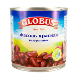 Фасоль Globus красная с/с 420 г ж/б