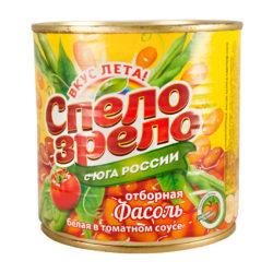 Фасоль белая в томатном соусе 430 мл ж/б Спело зрело