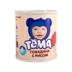 Пюре Тема говядина/рис 100 г ж/б