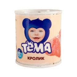 Пюре Тема кролик 100 г ж/б