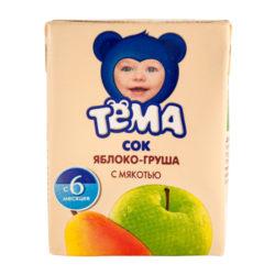 Сок Тема яблоко/груша 0,2 л