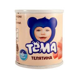 Пюре Тема телятина 100 г ж/б