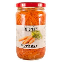 Морковь по-корейски История 350 мл с/б