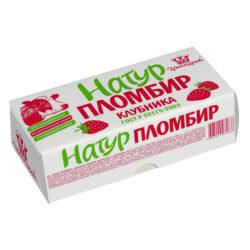 Мороженое пломбир натуральный клубника 240 г брикет Гроспирон