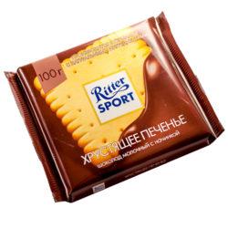 Шоколад Ritter Sport молочный с печеньем 100 гр