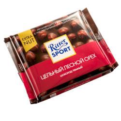 Шоколад Ritter Sport тёмный цельный лесной орех 100 г
