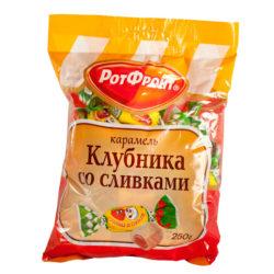 Карамель Клубника со сливками 250 г РотФронт