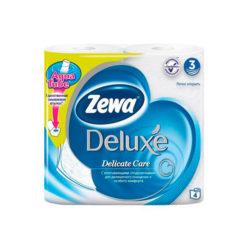 Бум.туал Zewa Deluxe 3-х сл белая 4шт