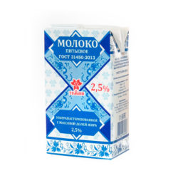 АК Молоко Тяжин у/паст ж2,5 1л БЗМЖ