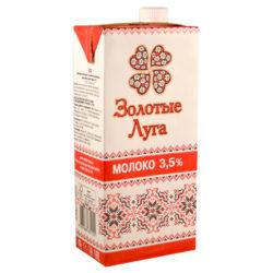 Молоко Золотые луга ж3,5 950мл