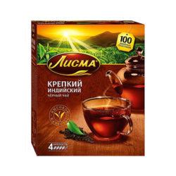 Чай Лисма крепкий черный 100пак*2г