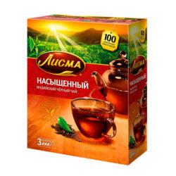 Чай Лисма Насыщ черн 100пак*2г
