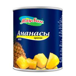 Ананасы MAYSUN кусочки 580мл ж/б