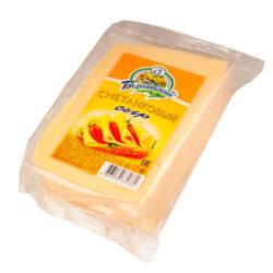 Сыр Сметанковый ж50 220г фасовка Белебеевский