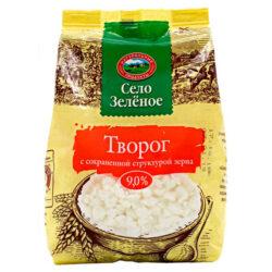Творог ж9 200гр пакет Село зеленое