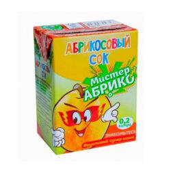 Сок Мистер Абрико абрикос 0,2л