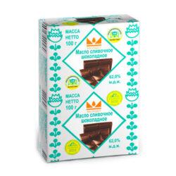 Масло Шоколадное ж62 100гр фольга Маслодел