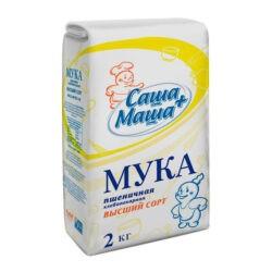 Мука Саша+Маша пшеничная в/с 2кг